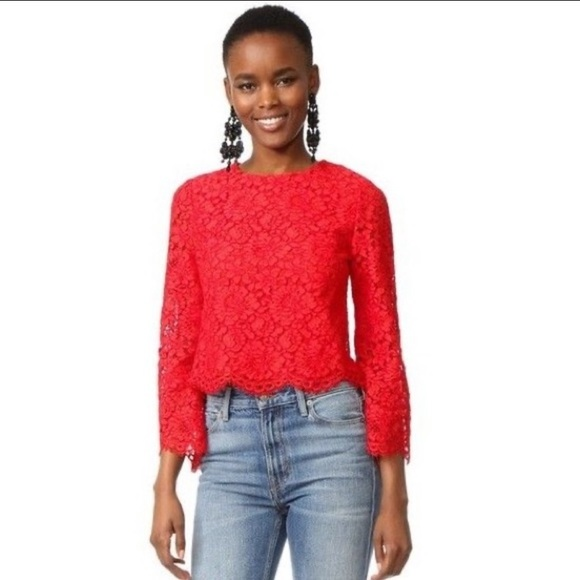 Weekend Sale! Alice + Olivia Pasha Bell Sleeve Lace Blouse